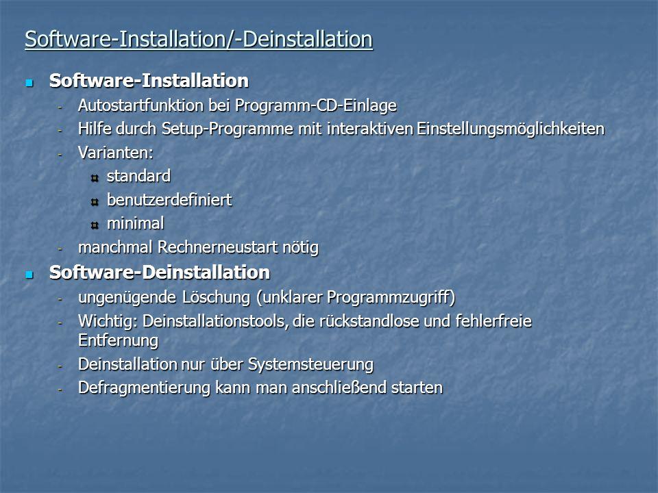 Software-Installation/-Deinstallation
