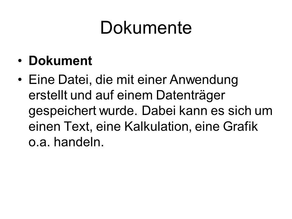 DokumenteDokument.