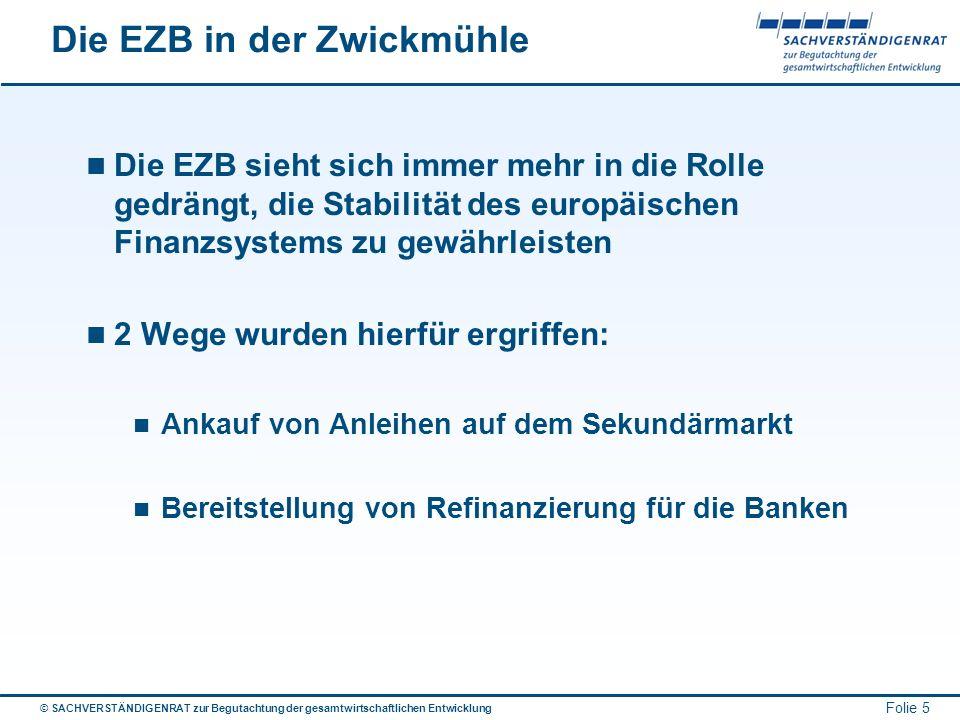 Die EZB in der Zwickmühle