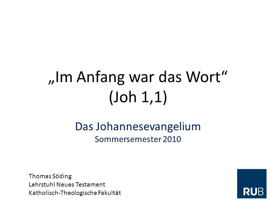 """""""Im Anfang war das Wort (Joh 1,1)"""