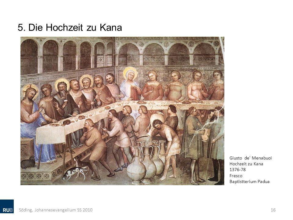 5. Die Hochzeit zu Kana Giusto de Menabuoi Hochzeit zu Kana