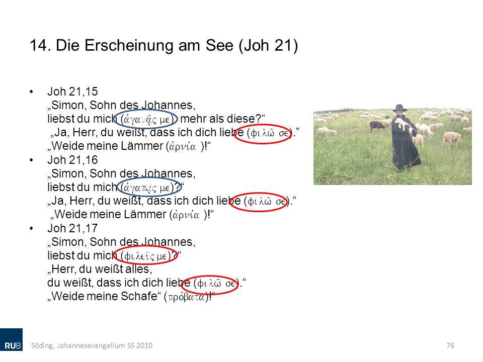 14. Die Erscheinung am See (Joh 21)