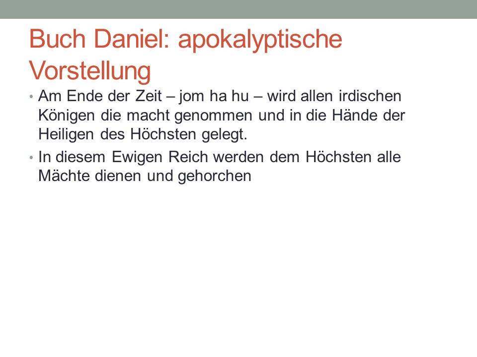 Buch Daniel: apokalyptische Vorstellung