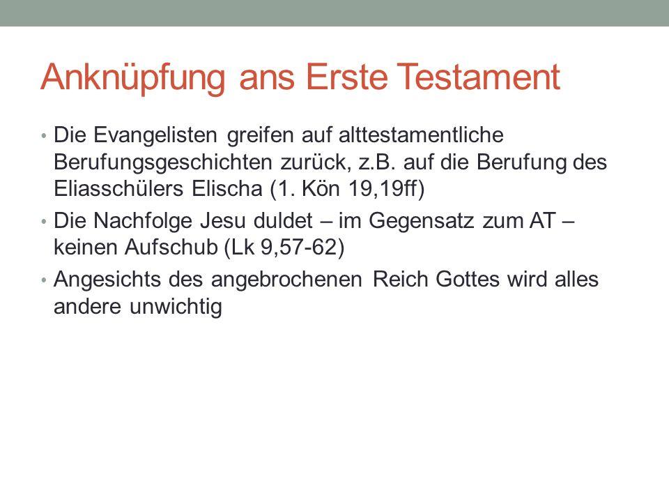 Anknüpfung ans Erste Testament