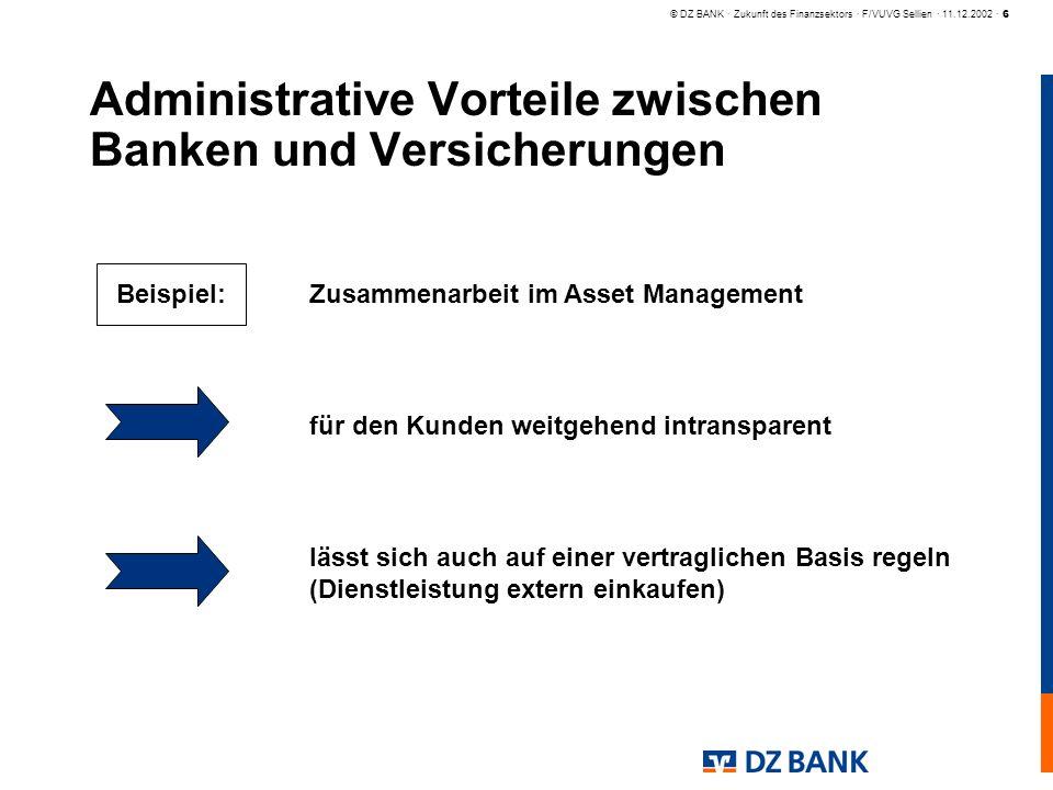 Administrative Vorteile zwischen Banken und Versicherungen