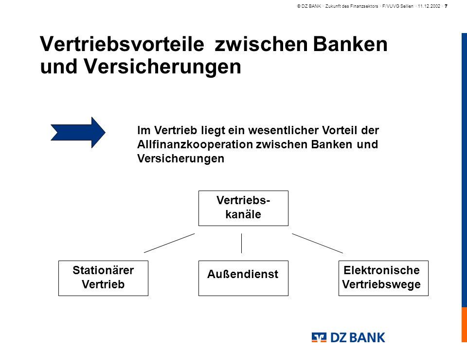 Vertriebsvorteile zwischen Banken und Versicherungen