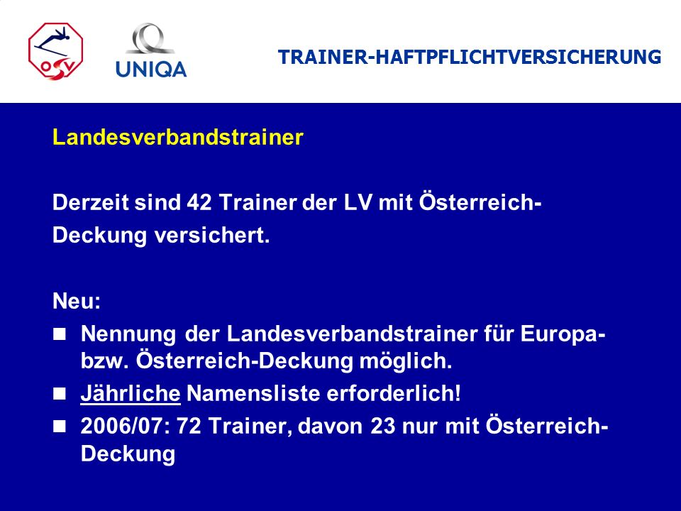 TRAINER-HAFTPFLICHTVERSICHERUNG