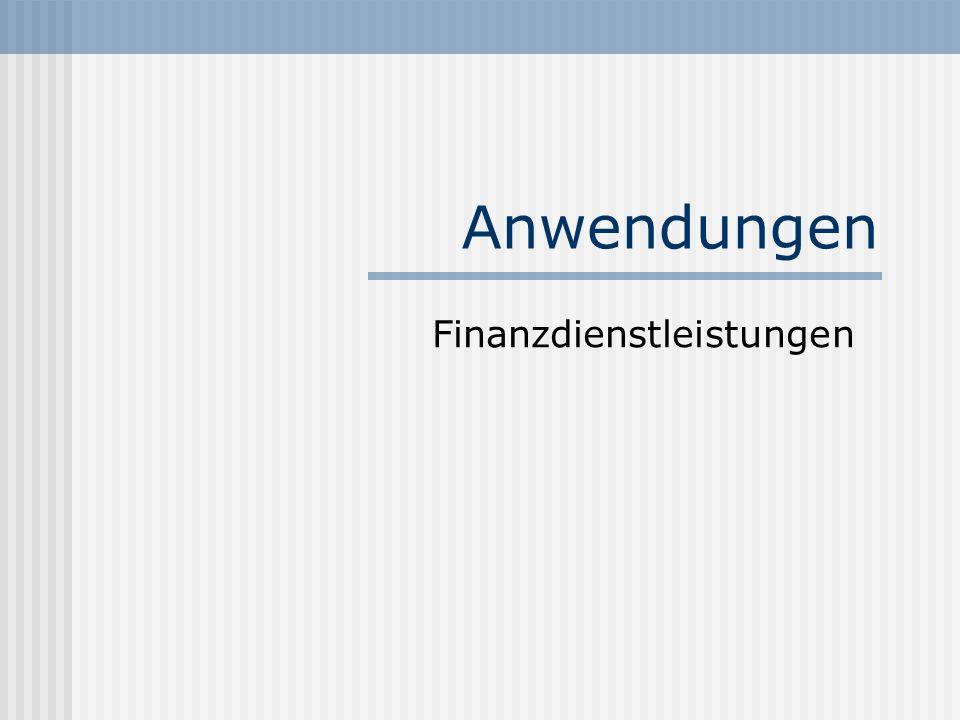Finanzdienstleistungen