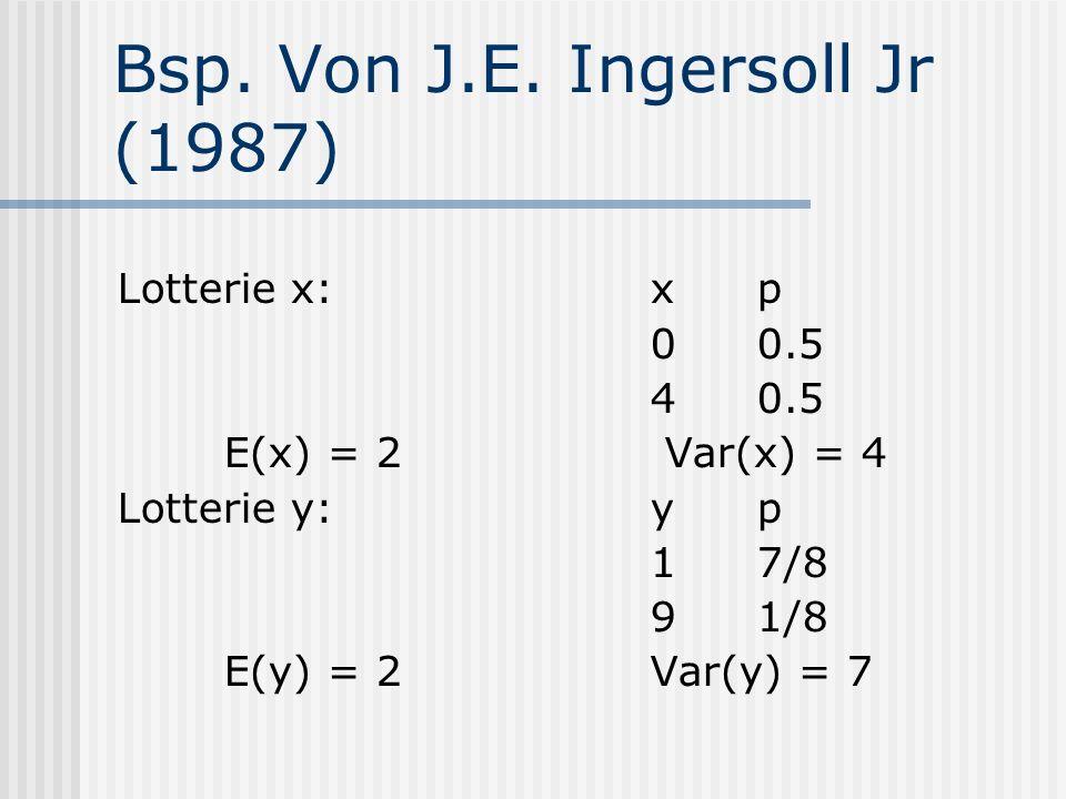 Bsp. Von J.E. Ingersoll Jr (1987)