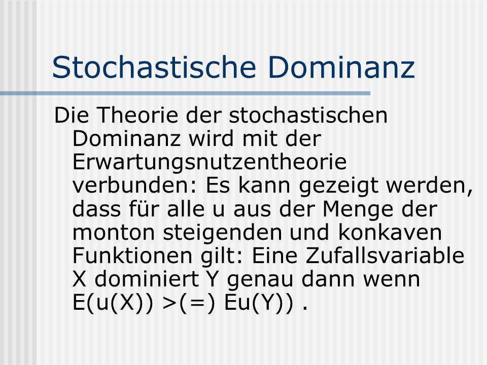 Stochastische Dominanz