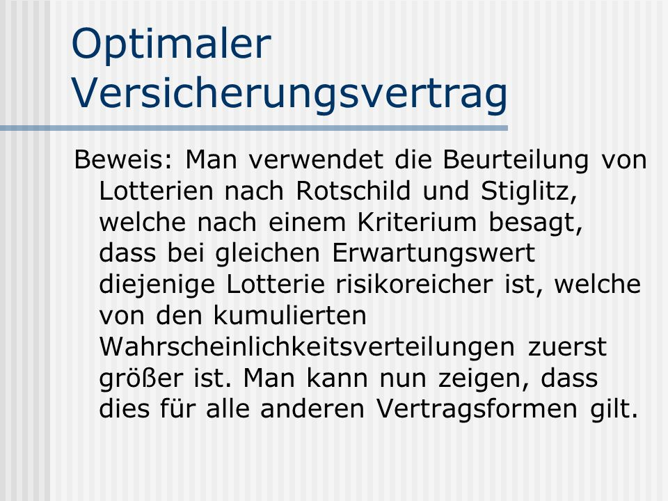 Optimaler Versicherungsvertrag
