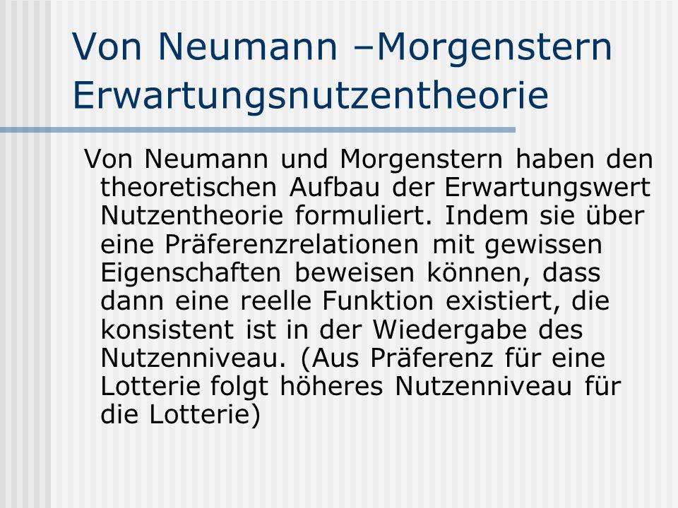 Von Neumann –Morgenstern Erwartungsnutzentheorie