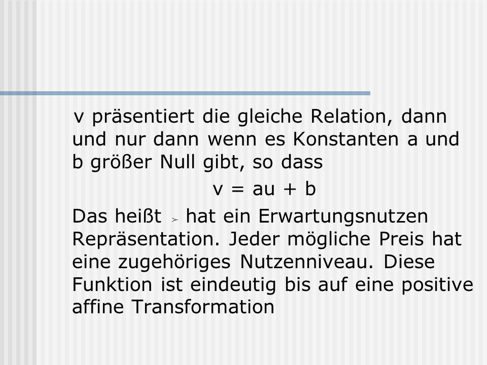 v präsentiert die gleiche Relation, dann und nur dann wenn es Konstanten a und b größer Null gibt, so dass