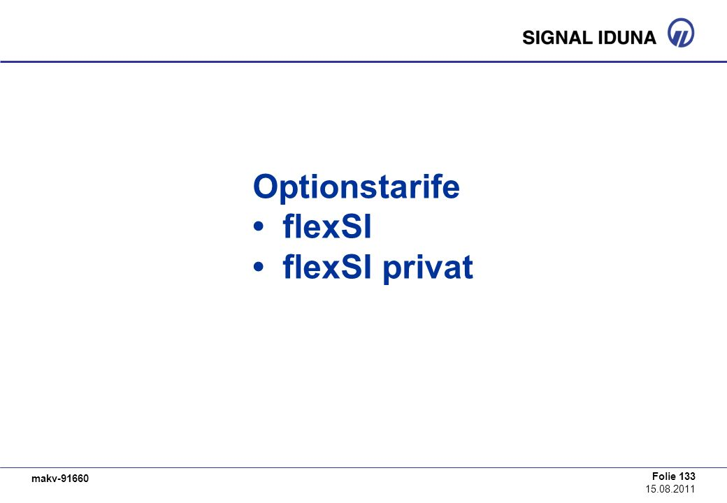 Optionstarife • flexSI • flexSI privat