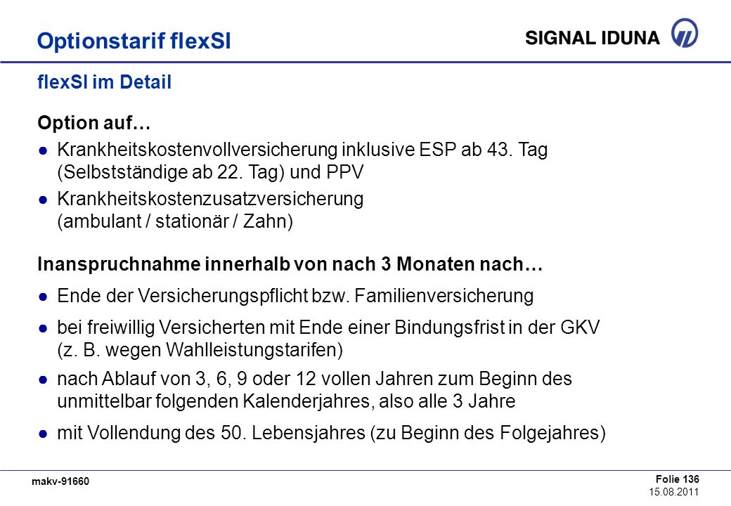 Optionstarif flexSI flexSI im Detail Option auf…