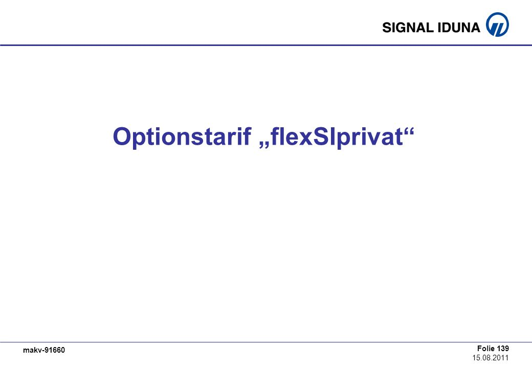 "Optionstarif ""flexSIprivat"