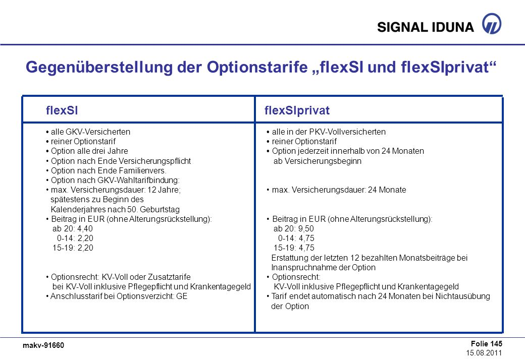 """Gegenüberstellung der Optionstarife """"flexSI und flexSIprivat"""