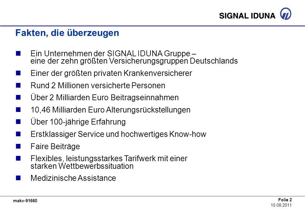Fakten, die überzeugen Ein Unternehmen der SIGNAL IDUNA Gruppe – eine der zehn größten Versicherungsgruppen Deutschlands.