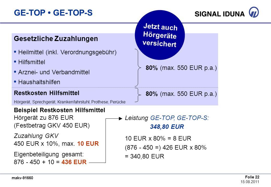GE-TOP • GE-TOP-S Jetzt auch Hörgeräte versichert