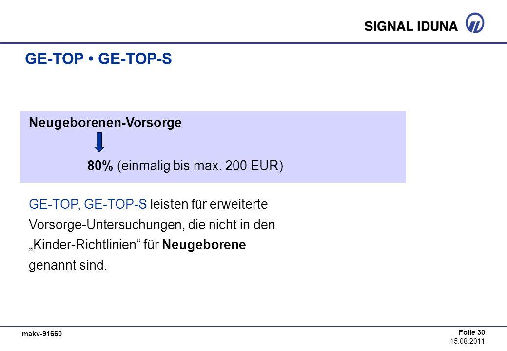 GE-TOP • GE-TOP-S Neugeborenen-Vorsorge