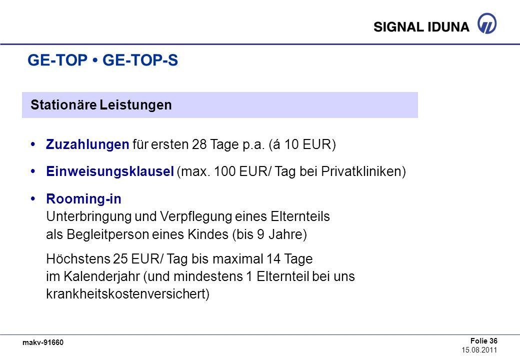 GE-TOP • GE-TOP-S Stationäre Leistungen