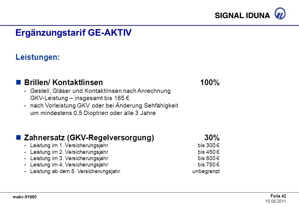 Ergänzungstarif GE-AKTIV
