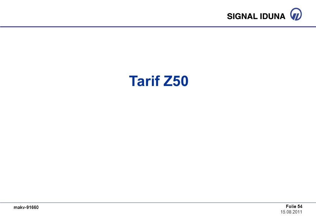 Tarif Z50