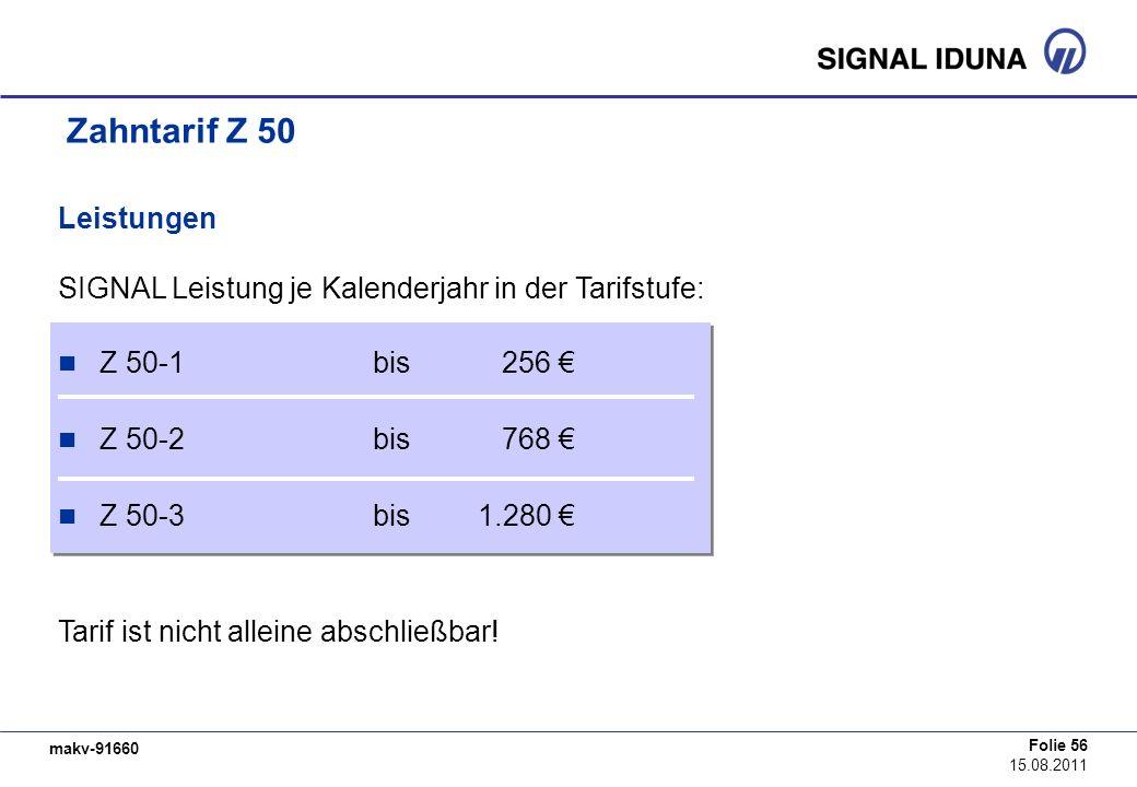 Zahntarif Z 50 Leistungen