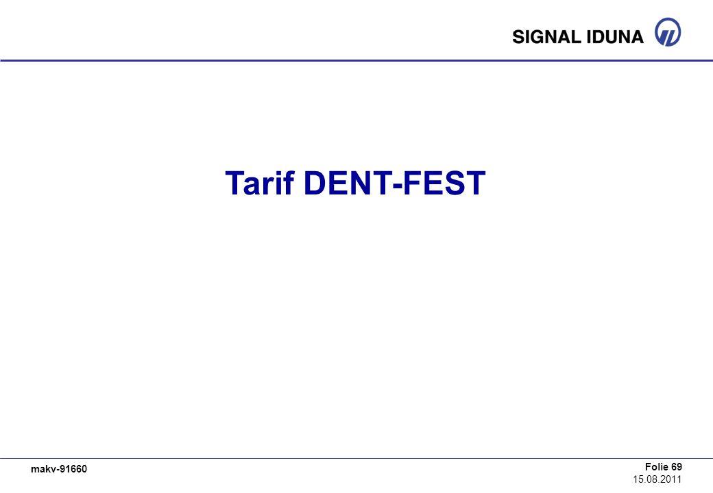 Tarif DENT-FEST