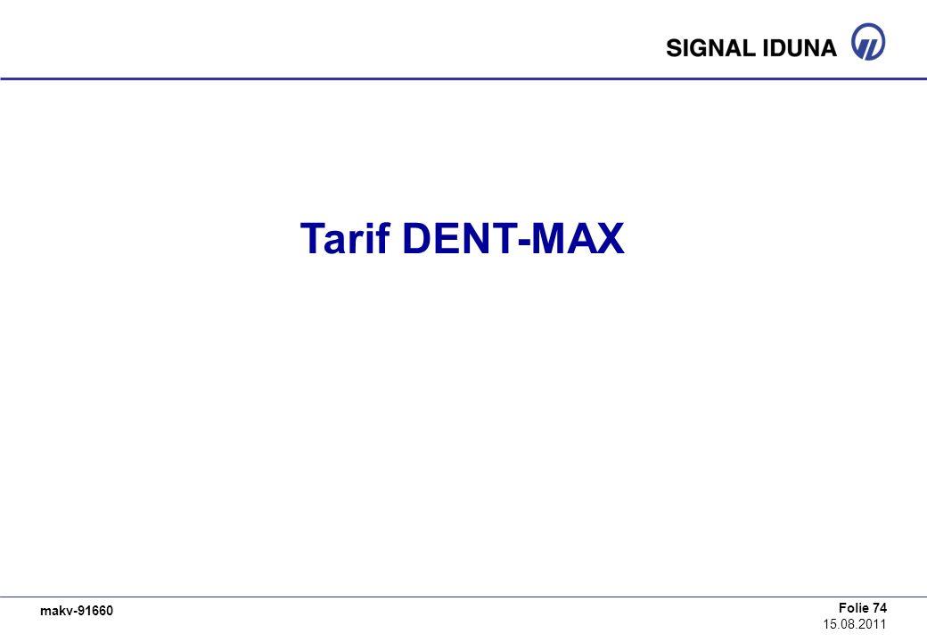 Tarif DENT-MAX