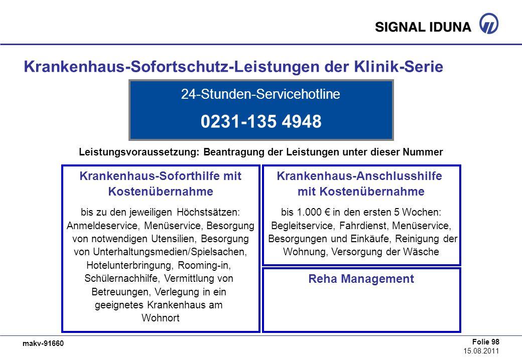0231-135 4948 Krankenhaus-Sofortschutz-Leistungen der Klinik-Serie