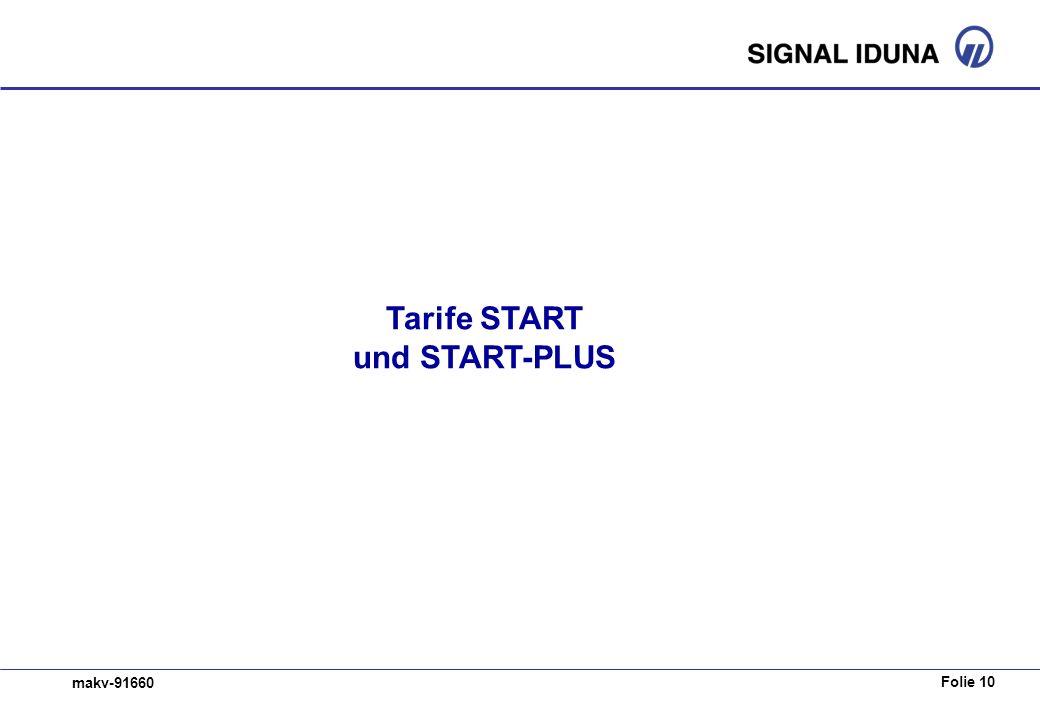 Tarife START und START-PLUS