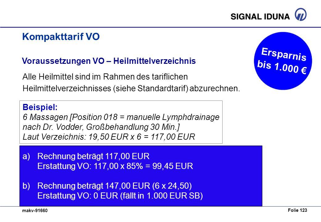 Kompakttarif VO Ersparnis bis 1.000 €