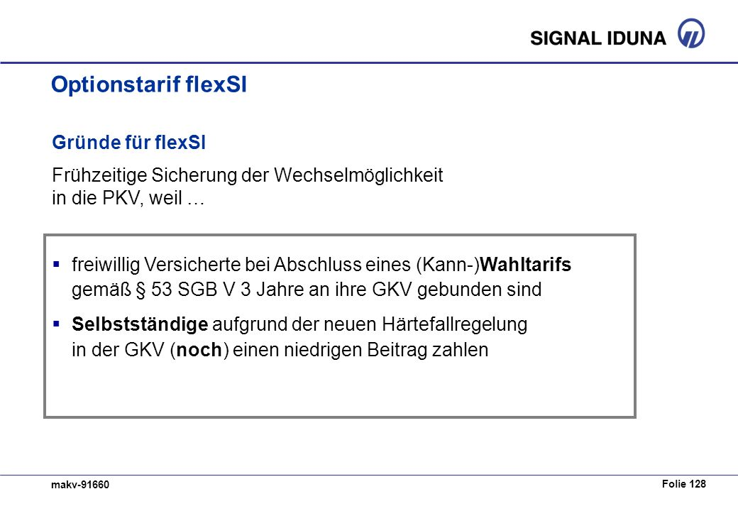 Optionstarif flexSI Gründe für flexSI