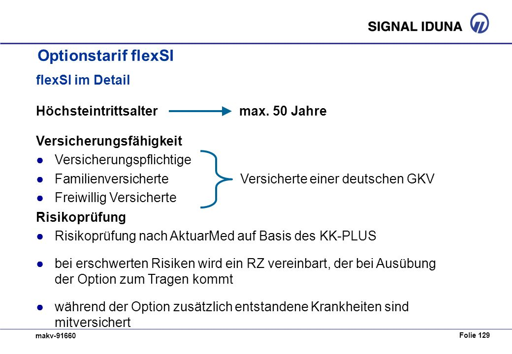 Optionstarif flexSI flexSI im Detail