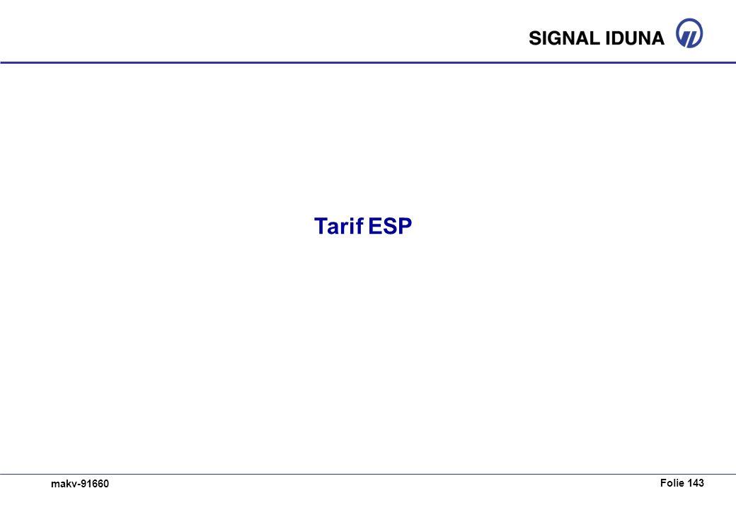Tarif ESP