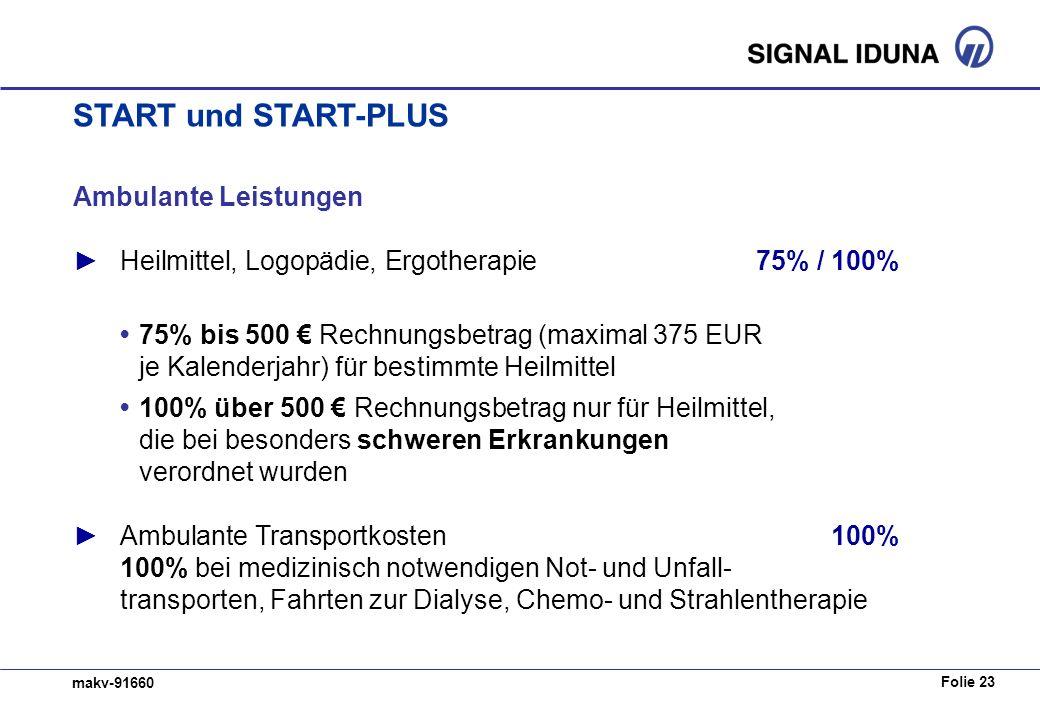START und START-PLUS Ambulante Leistungen