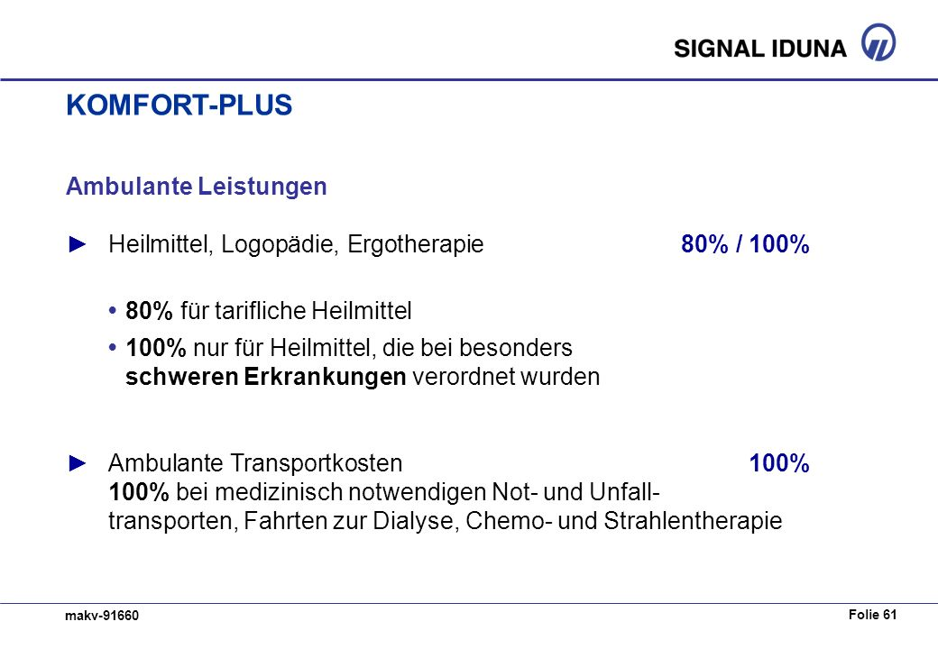 KOMFORT-PLUS Ambulante Leistungen