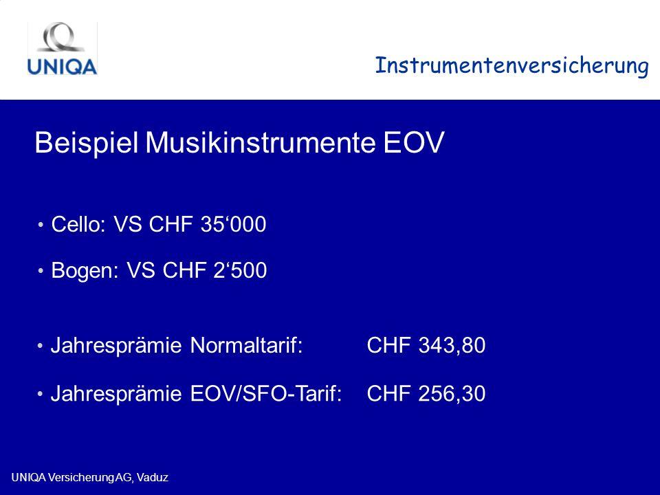 Beispiel Musikinstrumente EOV
