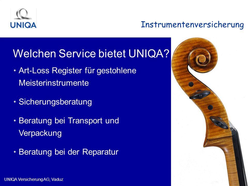 Welchen Service bietet UNIQA
