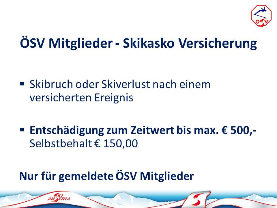 ÖSV Mitglieder - Skikasko Versicherung