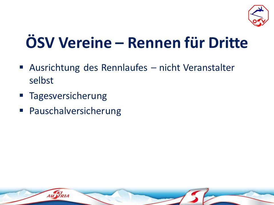 ÖSV Vereine – Rennen für Dritte
