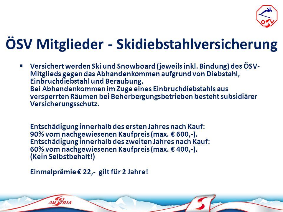 ÖSV Mitglieder - Skidiebstahlversicherung
