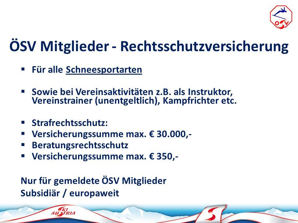 ÖSV Mitglieder - Rechtsschutzversicherung