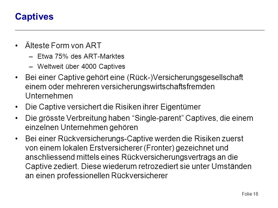 Captives Älteste Form von ART