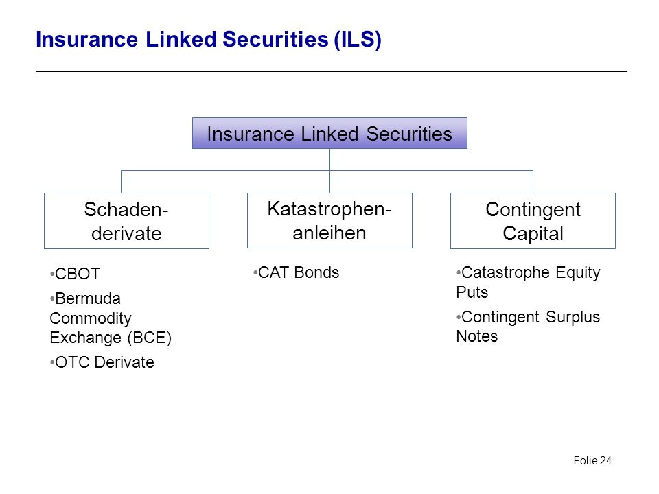 Insurance Linked Securities (ILS)