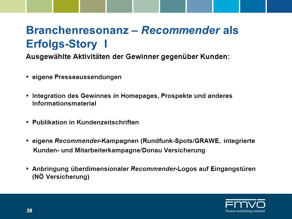 Branchenresonanz – Recommender als Erfolgs-Story I