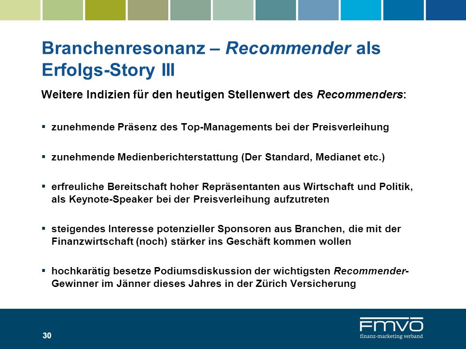 Branchenresonanz – Recommender als Erfolgs-Story III