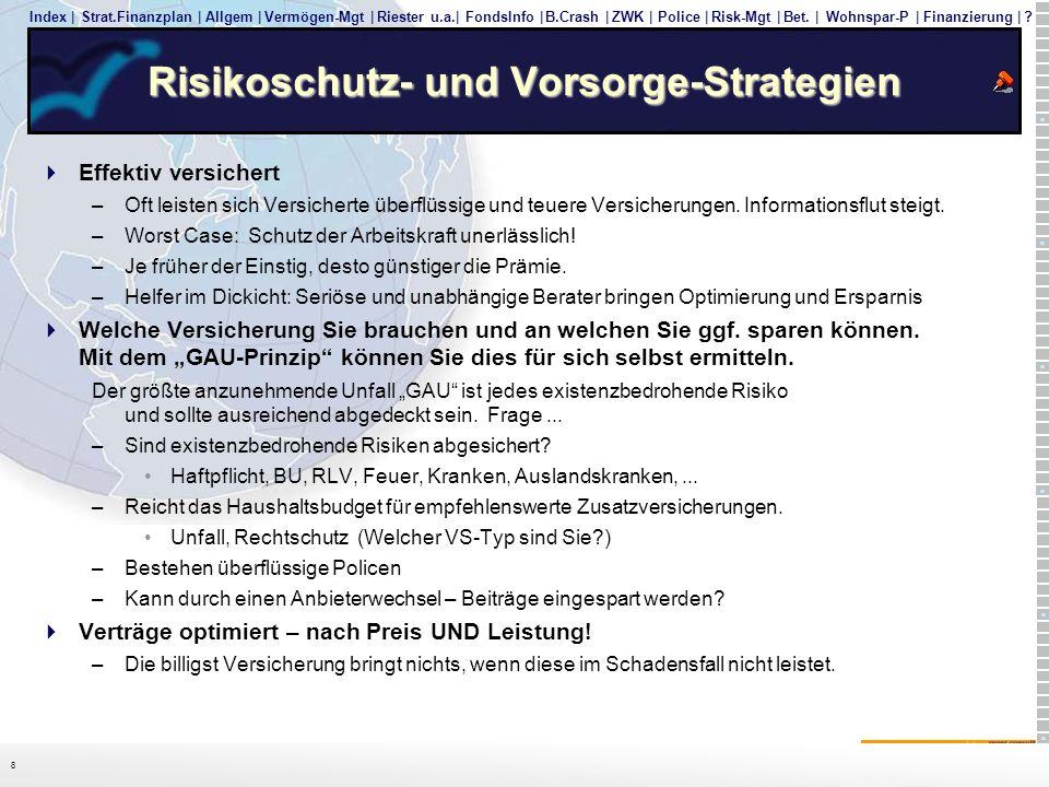 Risikoschutz- und Vorsorge-Strategien