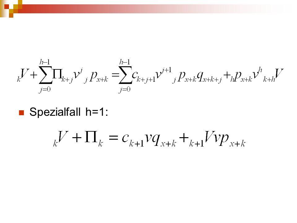 Spezialfall h=1: